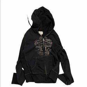 Polo by Ralph Lauren M black full zip hoodie.